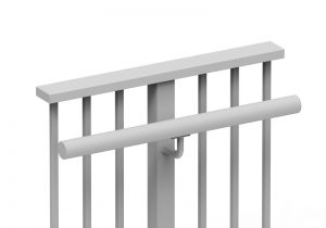LRWN10 round side-mounted handrail style example